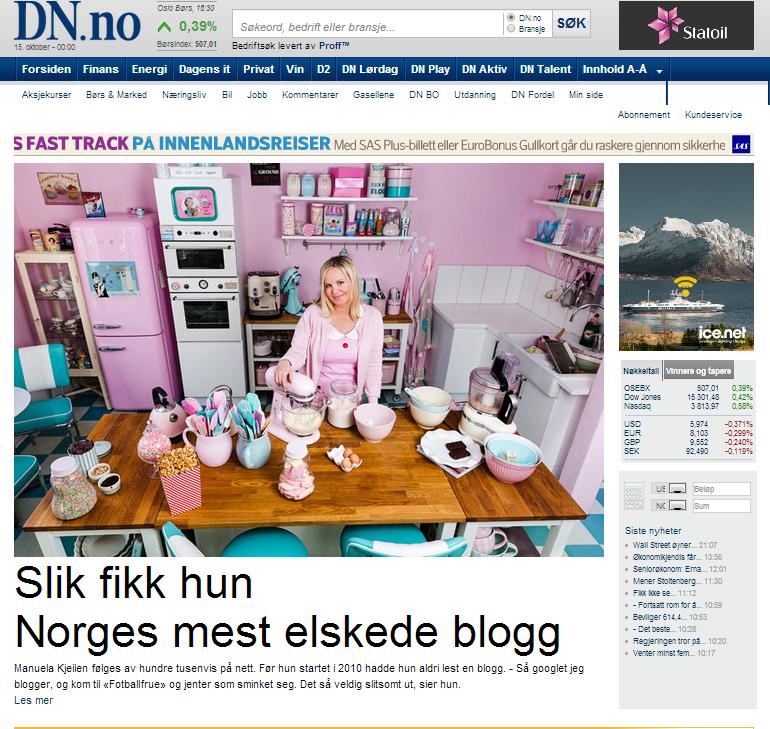 Manuela Kjeilen på Dagens Næringsliv