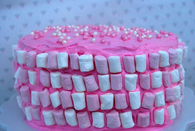 Pink Poke Cake