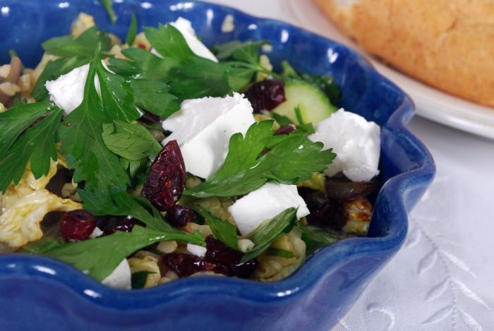 Middelhavs salat med bulgur…