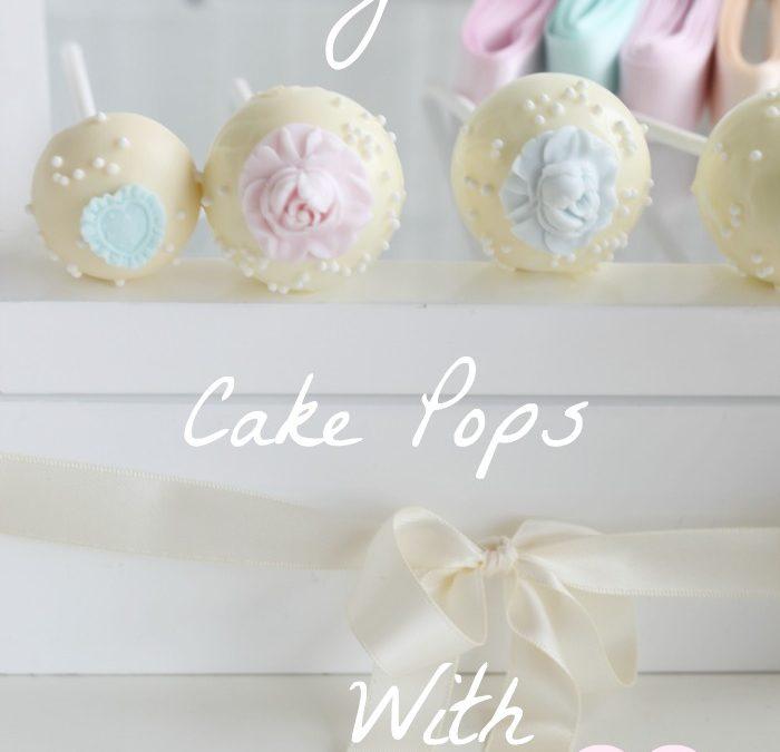 Vintage Vanilla Rose Cake Pops