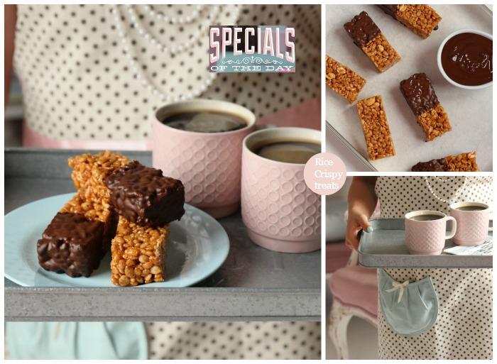 Rice crispy caramel peanut & chocolate treats