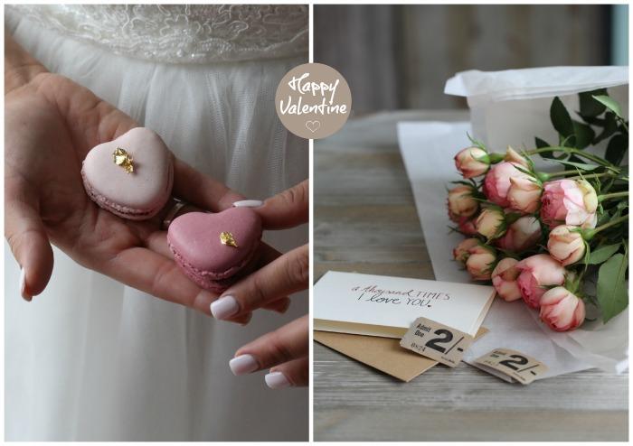 Heart shaped Valentine macarons