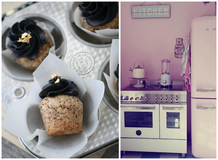 Mandelcupcakes med salt lakris & a touch of gold