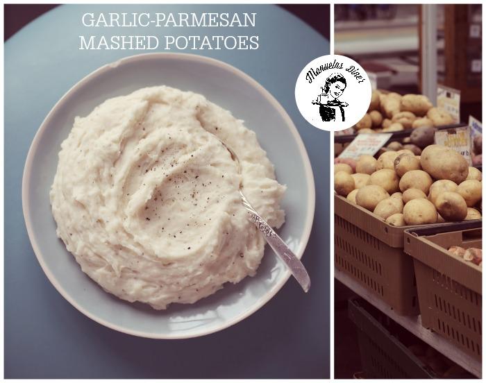 Potetmos med hvitløk og parmesan