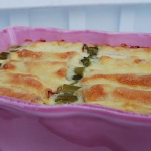 Skinke, ost og asparges ruller