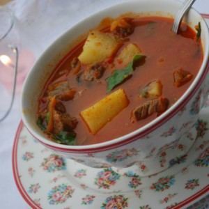 En enkel grønnsaks suppe
