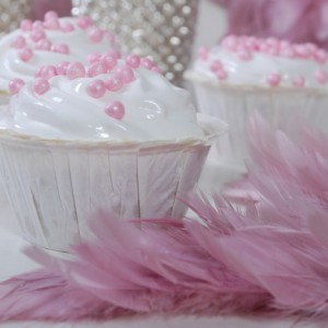Kokosmakroner som Cupcake's