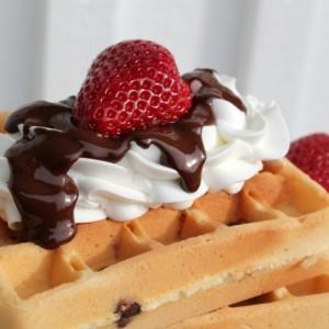 Chocolate Chip Belgian Waffles
