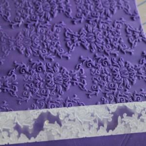 Damask Texture Pin - Acrylic Texture Rolling Pin