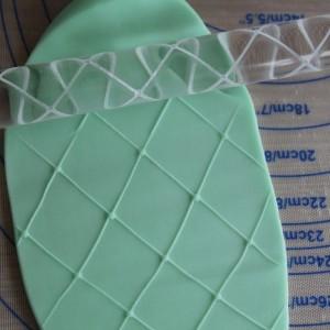 Diamond Clover Texture Pin - Acrylic Texture Rolling Pin