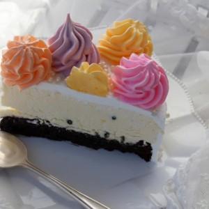 Fargerik Påske Brownies-pasjonsmousse kake