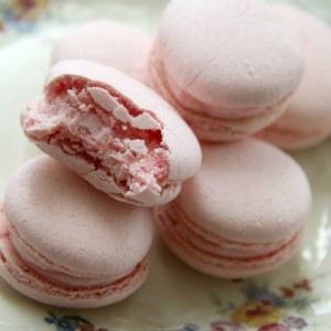 Pink Macarons with love, from Paris