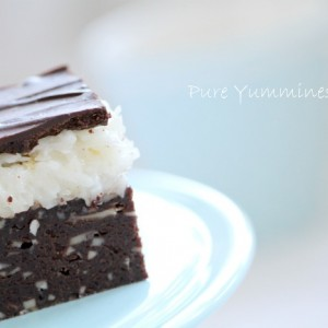 Almond- coconut brownies bars