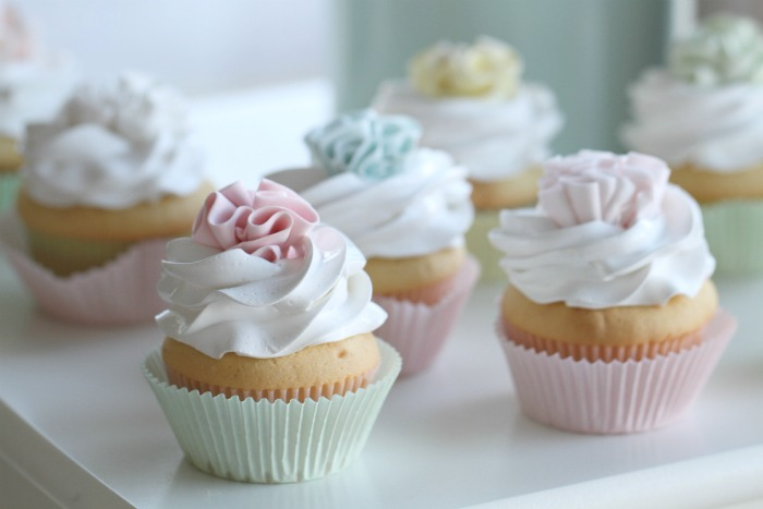 Lovely vanilla filled ruffle cupcakes