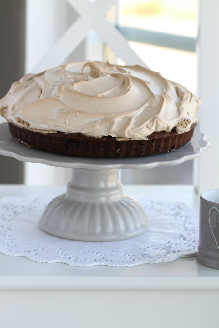 Coffee meringue brownies