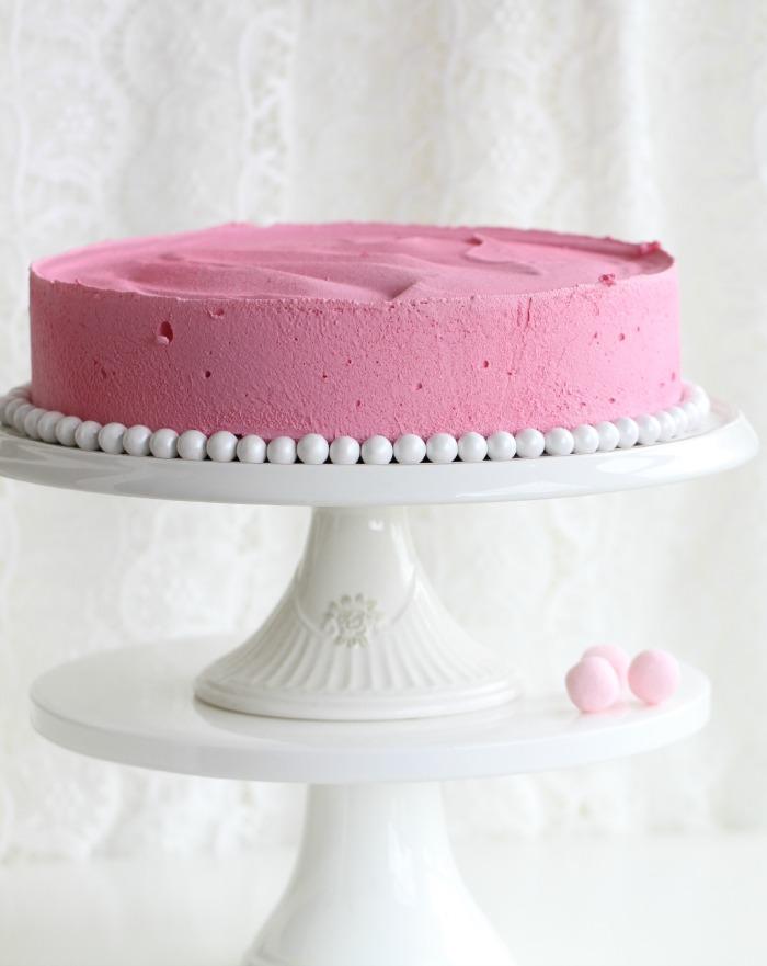 Velvet Raspberry Mousse Cake