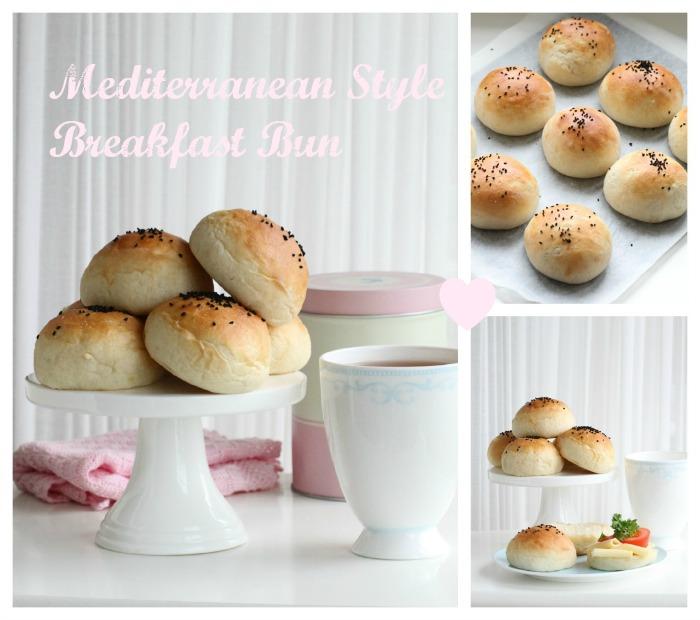 Mediterranean Style Breakfast Bun