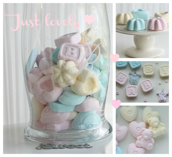 Cute pastel homemade marshmallows