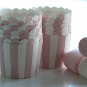 Marshmellow Pink Baking Cups