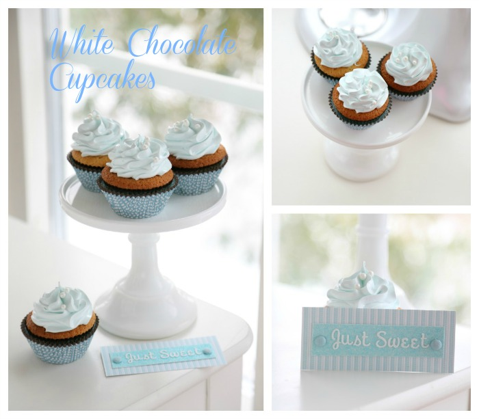 Just Sweet White Chocolate Cupcakes