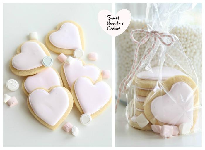 Sweet Pink Valentine's Cookies