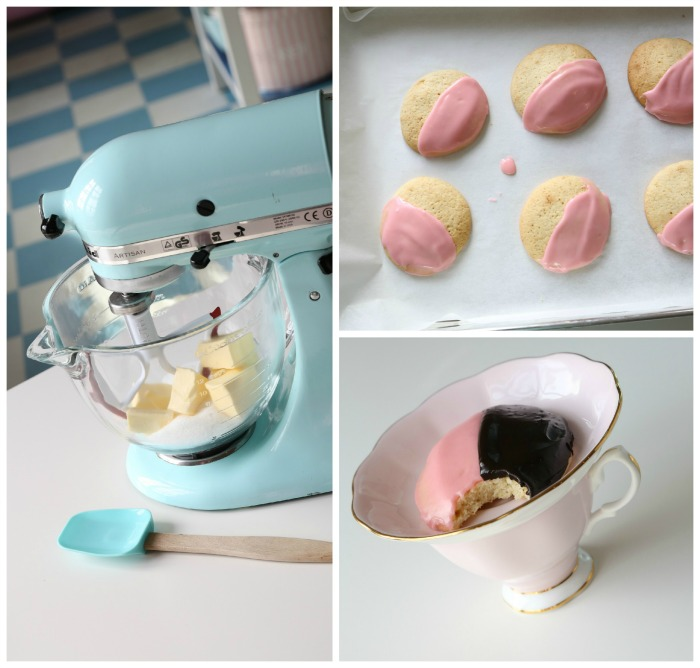 Black and White (pink) Cookies