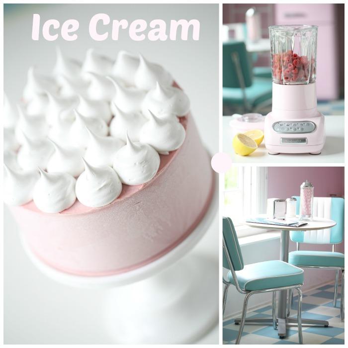 Iskake som er så frisk og god, og superenkel å lage! Iskake laget av ferske bringebær, toppet med deilig vanilla bean frosting.