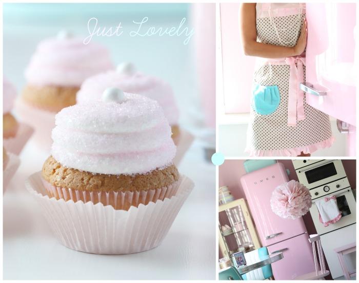 Lemon Cupcake & Pink sanding sugar