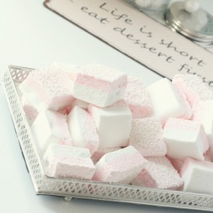 Lovely Pink & White Marshmallows with pink M&M's