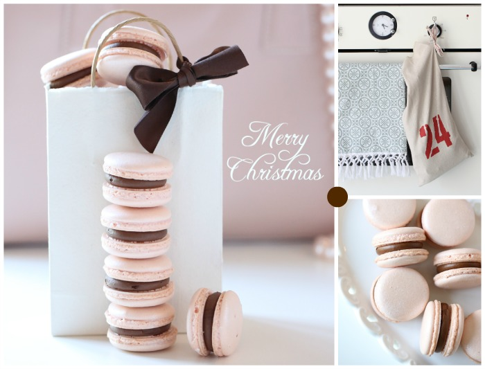 Lovely macarons for Christmas