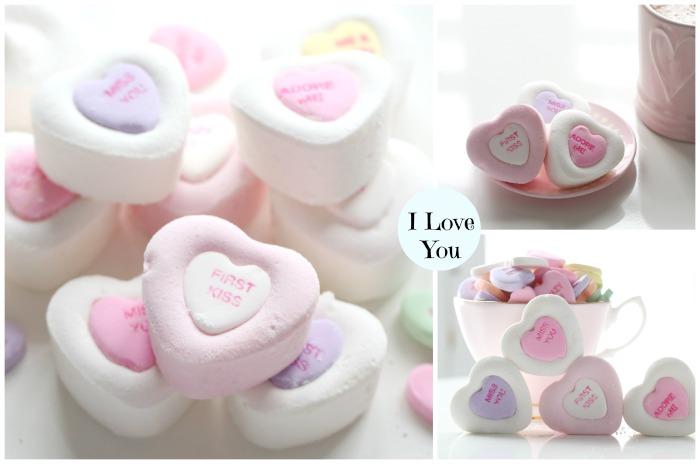 Conversation Love Hearts Marshmallows