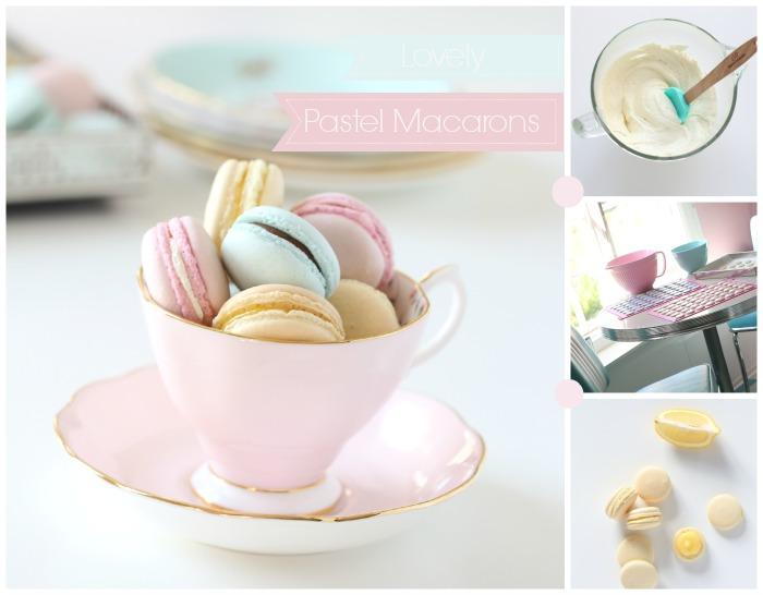 Lovely pastel macarons