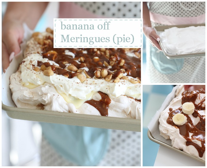 Banoffee meringue pie