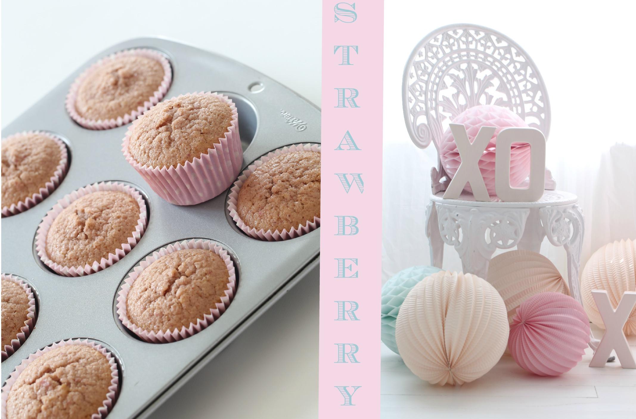 Simple strawberry cupcakes