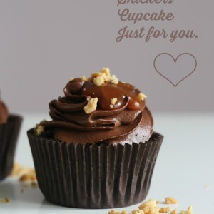 Supergode Snickers cupcakes