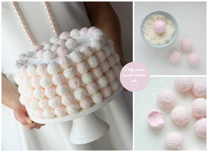 Pretty in pink coconut cake