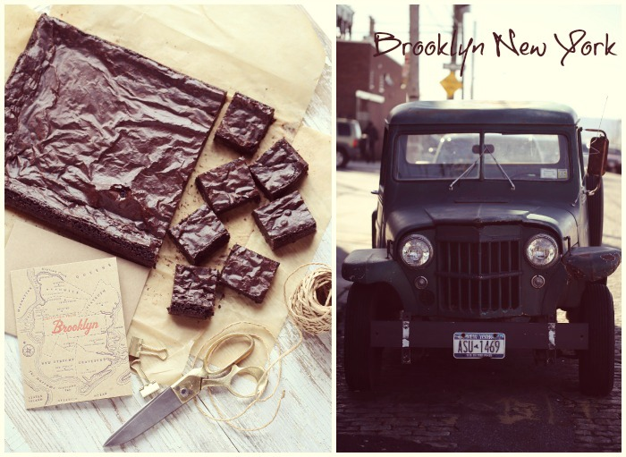 Gluten free fudge brownies, with love from Brooklyn