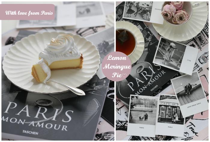 Lemon Meringue Pie with Love from Paris