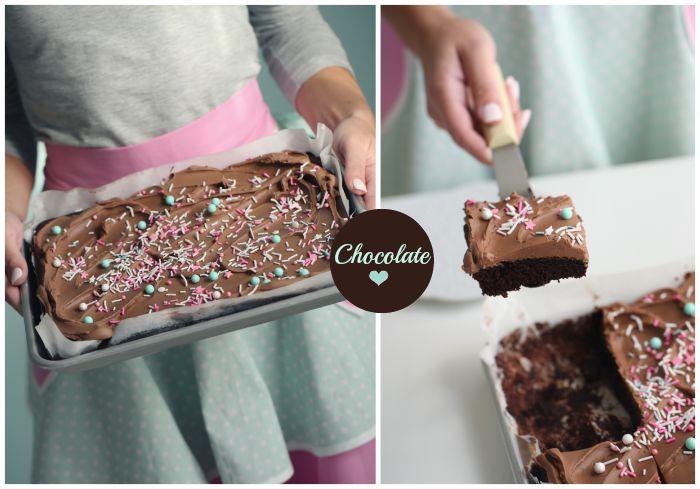 Moist chocolate sheet cake