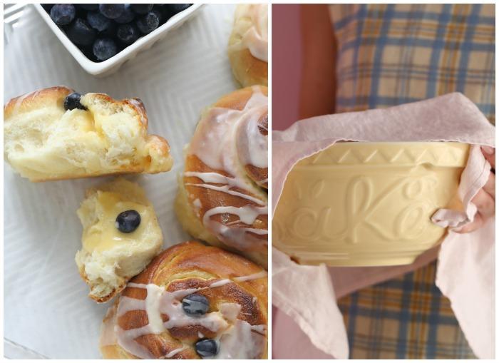 Lemon & blueberry rolls