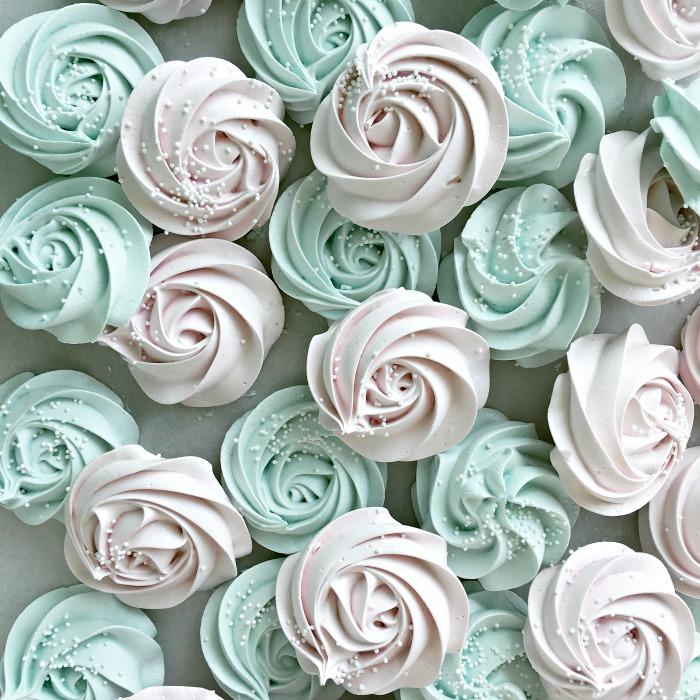 Meringue Rose Cookies