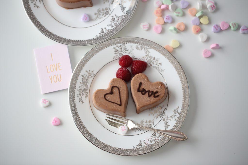 Sjokolademousse hjerte, til  Valentine's Day