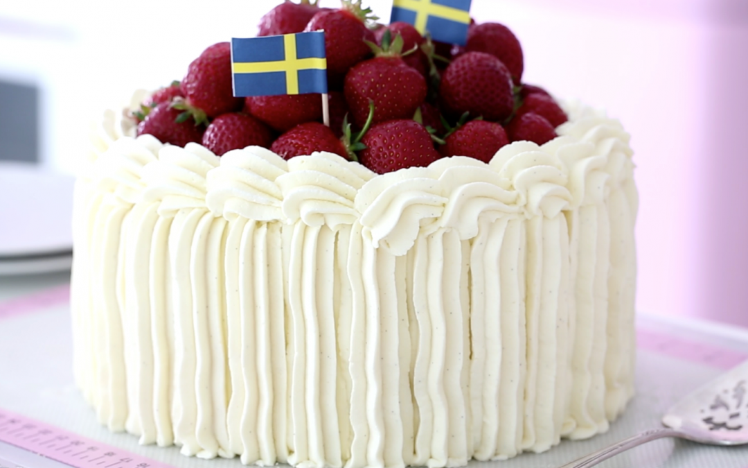 Swedish Midsummer, Strawberry Cream Cake