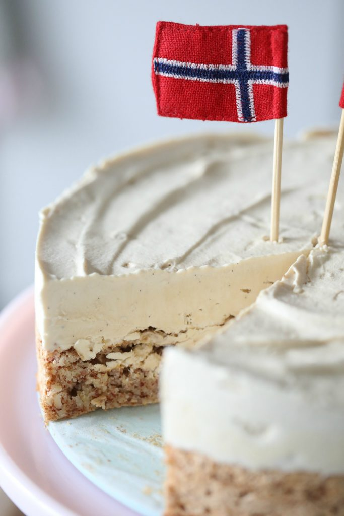 Old Fashioned Ice Cream Cake Made With Ready Made Icecream